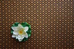 Termas e flor de lótus bonita Fotografia de Stock Royalty Free
