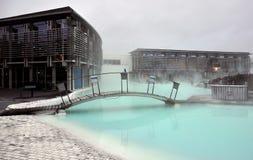 Termas geotérmicas da lagoa azul Fotos de Stock Royalty Free