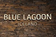 Termas geotérmicas da lagoa azul famosa em Islândia Fotos de Stock