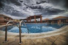 Termas luxuosos Hotell em Grécia Fotografia de Stock Royalty Free