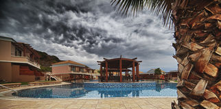 Termas luxuosos Hotell em Grécia Fotos de Stock Royalty Free