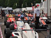 Termas - raça de Renault da fórmula de Francorchamps Bélgica Fotografia de Stock Royalty Free