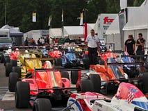 Termas - raça de Renault da fórmula de Francorchamps Bélgica Foto de Stock Royalty Free