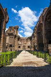Terme of caralla (Roma). Clouds in the excavations of the Baths of Caracalla Stock Photography