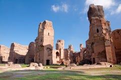 terme di Caracalla废墟罗马-意大利 免版税库存图片
