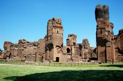 Terme Di Caracalla (Baden van Caracalla) in Rome, I Stock Foto's