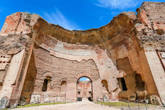 Terme di Caracalla ot The Baths of Caracalla in Rome, Italy royalty free stock image