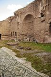 Terme di Caracalla, Rome. The Terme di Caracalla Roman Baths in Rome, Italy. Built in the 3rd century AD to include a library and gymnasiums in addition to the Royalty Free Stock Photo