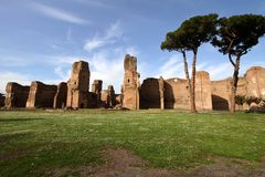 Terme di Caracalla in Rome, Italy Royalty Free Stock Image