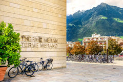 Terme di Merano Meran spa - Trentino Alto Adige - Bozen - Ita. Merano, Italy, 11 Aug 2017 - Terme di Merano Meran spa famous resort in Trentino Alto Adige royalty free stock photos
