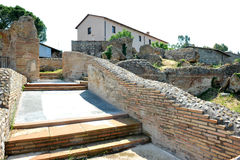 Terme Taurine. Civitavecchia,Rome Italy Terme Taurine is a Roman archaeological site located in Civitavecchia, isolated, on a hill just a few kilometers from the royalty free stock photography