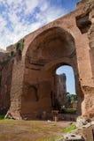 Terme vertical Di Caracallaruins Włochy - Roma - Obraz Royalty Free