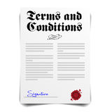 Termes et conditions illustration stock