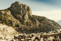 Termessos剧院,土耳其 免版税库存照片