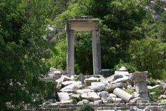 Termessos pajasstad, Antalya, Turkiet Royaltyfria Bilder