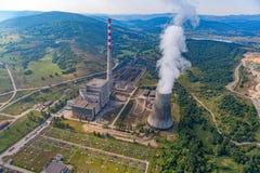 Termiczna elektrowni antena Zdjęcia Stock