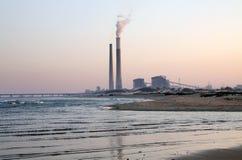 Termiczna elektrownia w Ashkelon, Izrael Zdjęcie Royalty Free