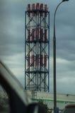 Termiczna elektrownia w kapitale Rosja, Moskwa - Obraz Stock
