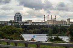 Termiczna elektrownia w kapitale Rosja, Moskwa - Obraz Royalty Free