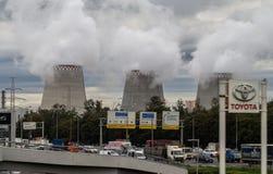 Termiczna elektrownia w kapitale Rosja, Moskwa - Zdjęcie Royalty Free