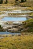 Termiczni baseny i wapno zasklepiają, Yellowstone park narodowy, Wyoming Obrazy Stock
