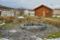 Termiczny basen w Iceland obrazy stock