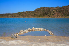 Termiczny nawadnia, Lago Di Venere inPantelleria Zdjęcia Stock