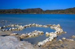 Termiczny nawadnia, Lago Di Venere inPantelleria Obraz Stock