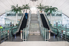 Terminal à l'aéroport de Suvarnabhumi Photos stock