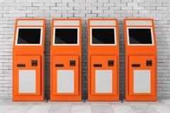 Terminal électronique de salaire rendu 3d Images libres de droits