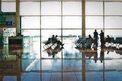 Terminal 1 am Barcelona-Flughafen Stockfotos