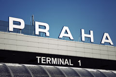 Terminal 1 - international airport in Prague Stock Photos