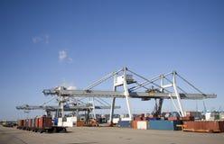 Terminal 1 van de container Stock Foto's