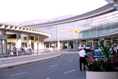 Terminal. Airport terminal with cars outside Royalty Free Stock Photography