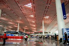 Terminal 3 of Beijing Capital airport Royalty Free Stock Image
