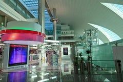 Terminal 3 d'aéroport de Dubaï Photo stock