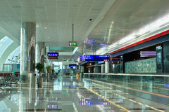 Terminal 3 d'aéroport de Dubaï Photos stock