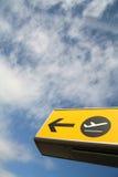 Terminal. Sign at the airport of edinburgh scotland Stock Image