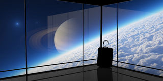 Terminal 2. Abstract vision of space travel. Elements of this image furnished by NASA Stock Photography
