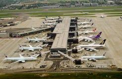 Terminal 2, aeroporto de Heathrow, Londres Fotografia de Stock