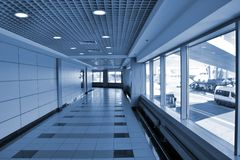 Terminal in the airport Royalty Free Stock Photos