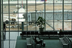 Terminal anxiety macau airport Royalty Free Stock Image