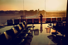 Terminal- arrival/deportures stock photo