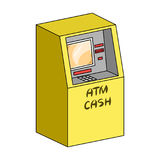 Terminal, ATM for receiving cash. Terminals single icon in cartoon style isometric vector symbol stock illustration web. Stock Image