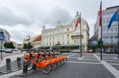 Terminal of automatic bicycle rental Cyclocity in Vilnius, Lithu Stock Images