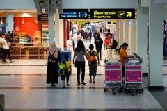 Terminal av flygplatsen i den Hat Yai staden royaltyfri foto