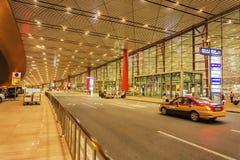Terminal 3 av Pekingden huvudinternationella flygplatsen Arkivbild