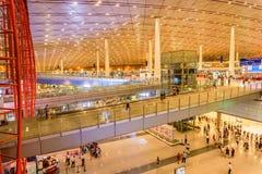 Terminal 3 av Pekingden huvudinternationella flygplatsen Royaltyfri Foto