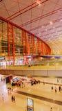 Terminal 3 av Pekingden huvudinternationella flygplatsen Royaltyfri Fotografi