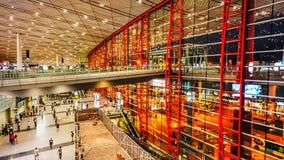 Terminal 3 av Pekingden huvudinternationella flygplatsen Royaltyfria Bilder